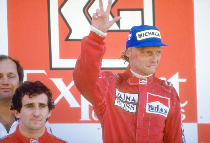 Niki Lauda e Alain Prost GP de Portugal 1984 (Foto: Getty Images)
