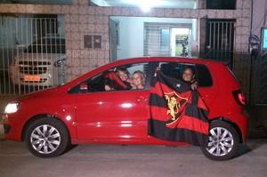 Mãe de Érico Júnior viaja de carro para Fortaleza para ver filho jogar (Foto: Juan Torres)