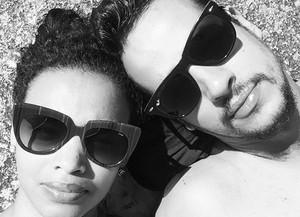 Lucy Ramos e o marido Thiago Luciano (Foto: Arquivo Pessoal)