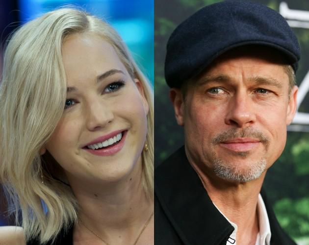 Jennifer Lawrence e Brad Pitt (Foto: Getty)