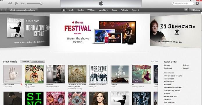 iTunes pode passar a ter músicas em HD (Foto: Reprodução/Thiago Barros)