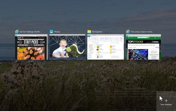 Veja como vão funcionar os desktops virtuais no Windows 10 (Foto: Divulgação/Microsoft)