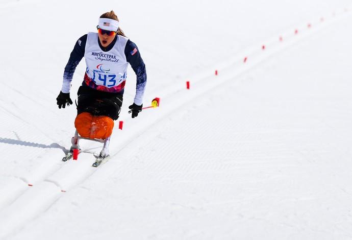 Oksana Masters foi prata no esqui na Paralimpíada de Inverno de Sochi, em 2014 (Foto: Getty Images)