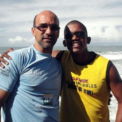 Jefferson Lacerda e Figueroa Conceição, técnicos de canoagem de Ubaitaba (Foto: Arquivo pessoal)