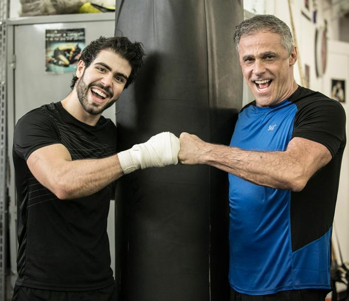 Juliano Laham e Oscar Magrini viverão Rômulo e Jorjão (Foto: Raphael Dias/Gshow)