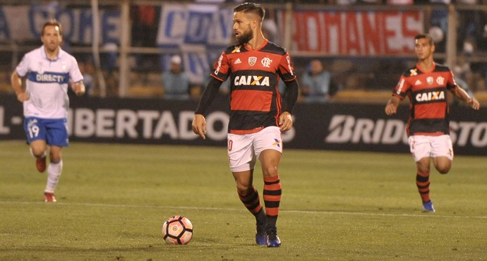 Diego - Universidad Católica x Flamengo (Foto: Staff Images / Flamengo)