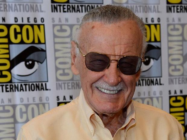 Stan Lee durante sua participação na Comic-Con 2013 em San Diego, no dia 19 de julho (Foto: Ethan Miller/Getty Images/AFP)