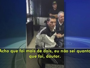Suspeito de matar delegado em Rio Preto disse que deu mais de dois tiros (Foto: Reprodução/TV TEM)
