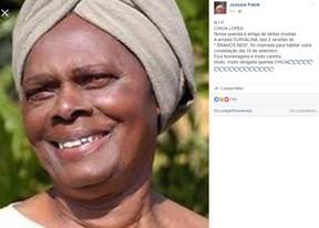 Morre a atriz Chica Lopes (Foto: Reprodução/Facebook)