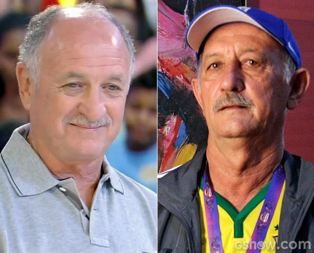 João Flauzino foi apelidado de Felipão pela semelhança com o treinador (Foto: Raphael Dias / TV Globo)