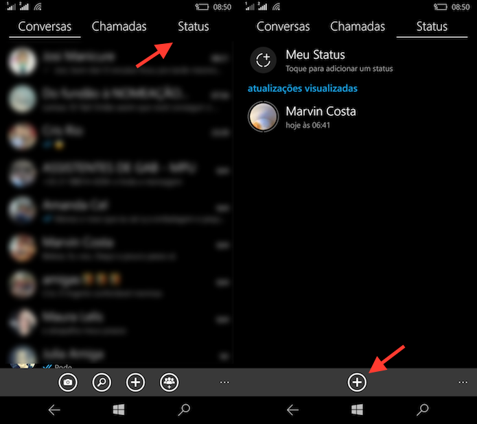 Como Usar O Status Do Whatsapp No Windows Phone Dicas E
