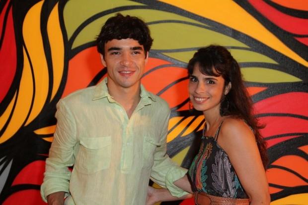 Cario Blat e Maria Ribeiro em evento no Rio (Foto: Anderson Borde/ Ag. News)