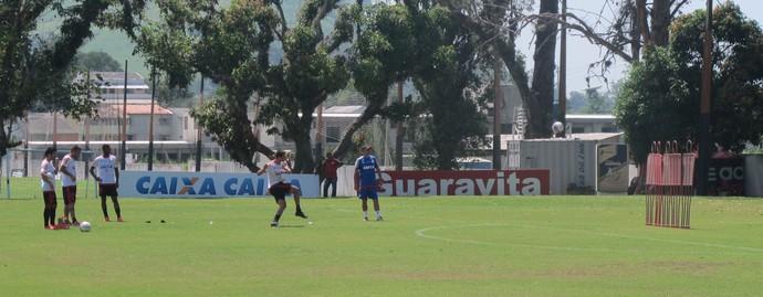 Flamengo, Treino de falta (Foto: Jessica Mello)