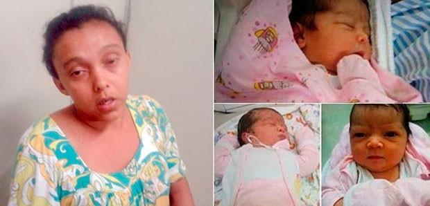 Maria Eliane confessou que raptou bebê de 4 dias de vida no RN (Foto: ivulgação/Polícia Civil do RN e Arquivo da Família)