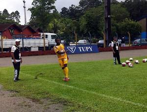 PC Gusmão e Willie em treino do Vitória em Joinville (Foto: Divulgação/EC Vitória)