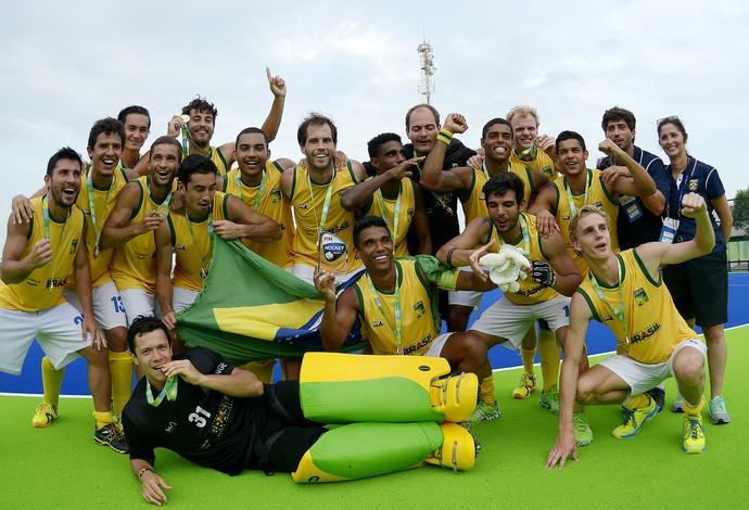 Seleção brasileira masculina conquistou o ouro no evento-teste no palco olímpico (Foto: Alexandre Loureiro)