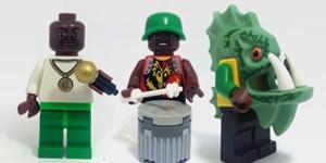 Carnaval em Lego (Foto: Arte G1)