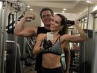 Ana Furtado e Boninho mostram a boa forma na academia: 'Nota 10!'