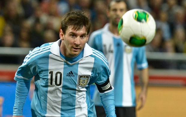 amistoso Messi Argentina x Suécia (Foto: AP)