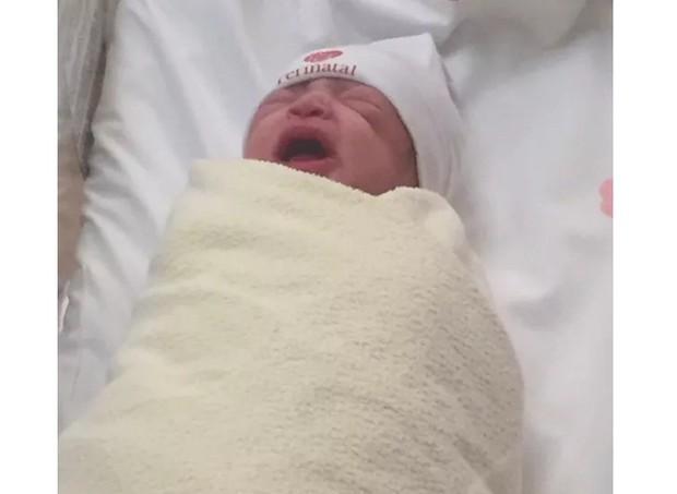 Primeira foto postada da bebê (Foto: Reprodução/Instagram)