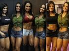 Fê D'avila invade evento e posa com celebridades do mundo fitness; fotos
