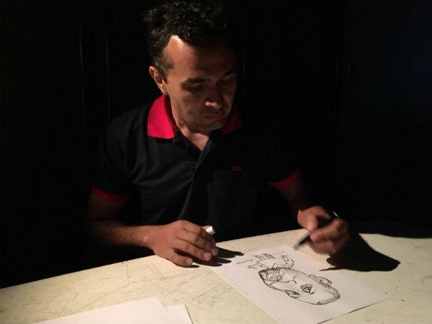 Cartunista brasileiro conquista 2° lugar em premiação da ONU (Foto: Clausio Tavoloni/ TV TEM)