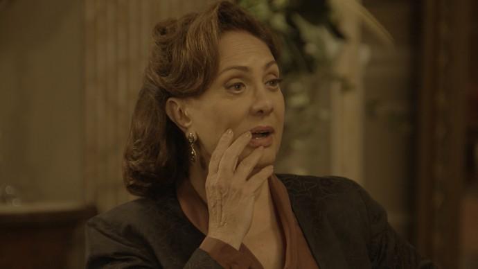 Anastácia fica surpresa ao ouvir a história de Jack (Foto: TV Globo)