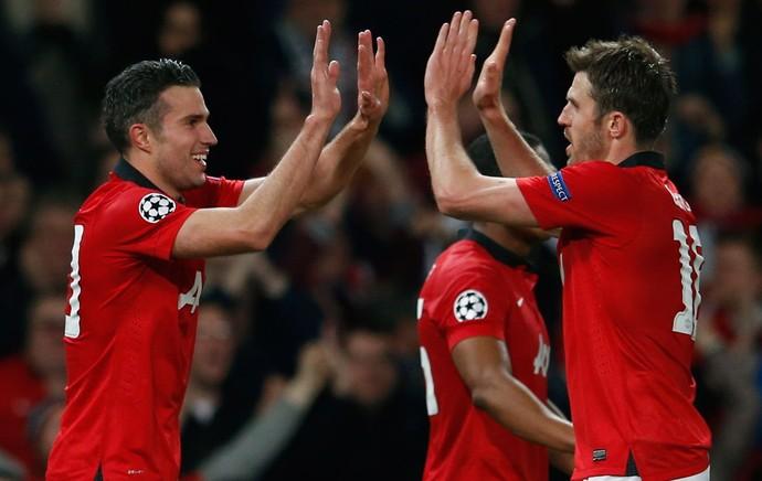 Van Persie United x Olympiakos (Foto: Reuters)