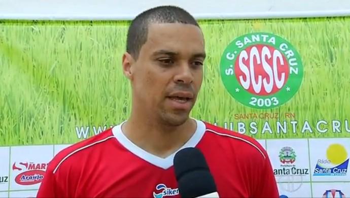 Marcello Galvão - goleiro do Santa Cruz-RN (Foto: Reprodução/Inter TV Cabugi)