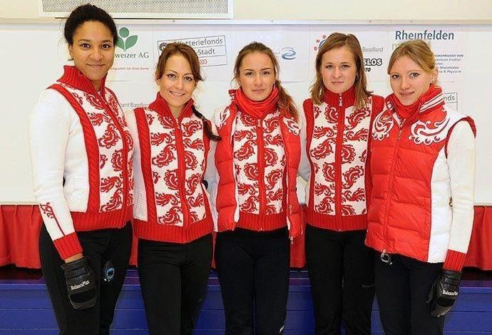 time feminino curling rússia sochi 2014 (Foto: Reprodução/Facebook)