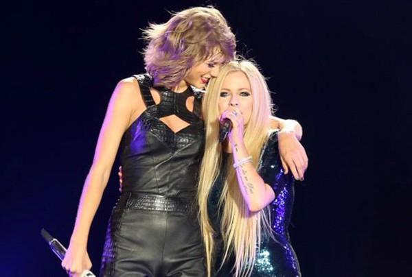 Taylor Swift e Avril Lavigne (Foto: Reprodução)