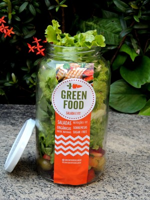 Salada em pote de vidro da Green Food (Foto: Divulgação)