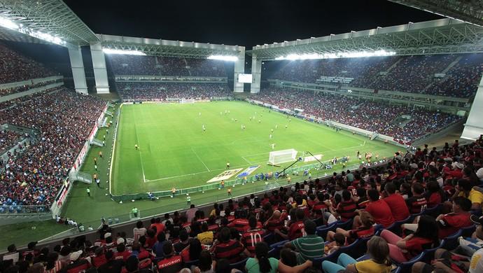 Arena Pantanal Goiás e Flamengo (Foto: Edson Rodrigues/Secopa-MT)