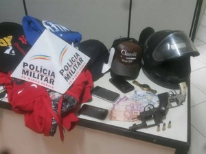 Assalto em loja de Nova Serrana (Foto: Polícia Militar de Nova Serrana/Divulgação)