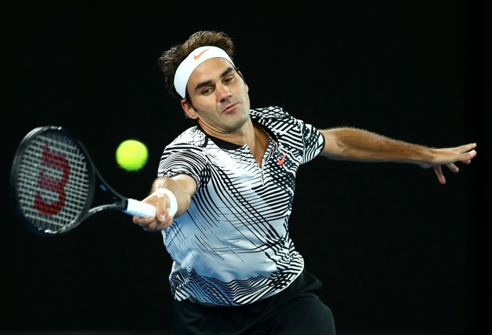 Suíço Roger Federer avança às oitavas do Aberto da Austrália (Foto: Cameron Spencer/Getty Images)