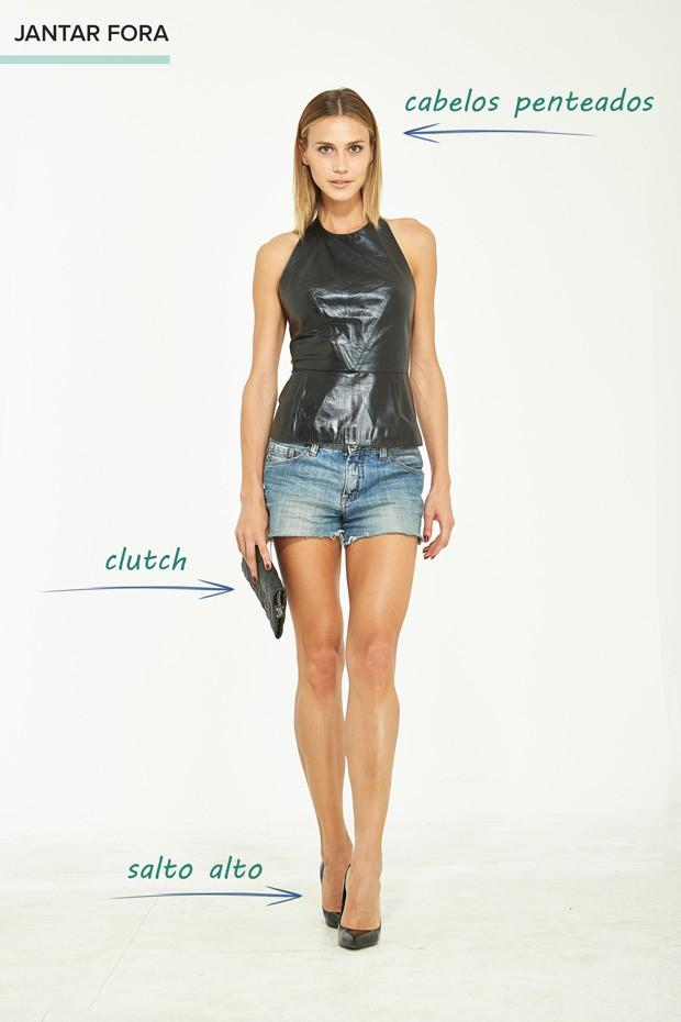 EGO - Aprenda a combinar o mesmo short jeans em quatro looks ... ae4e74fb3c