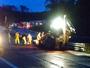 Acidente entre dois caminhões deixa trânsito lento na Via Dutra, em Piraí