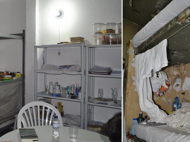 Promotores comparam ala reformada onde Luiz Estevão cumpre pena (esquerda) e outro ambiente da mesma unidade (Foto: Ministério Público do DF/Divulgação)