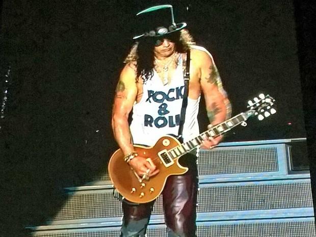 Banda Guns N' Roses se apresentou no Engenhão (Foto: Carlos Brito / G1)