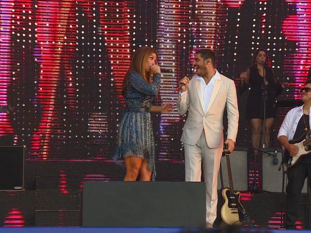 Ivete Sangalo e Criolo homenageiam Tim Maia, em show gratuito, no anfiteatro Pôr do Sol (Foto: Reprodução/RBS TV)