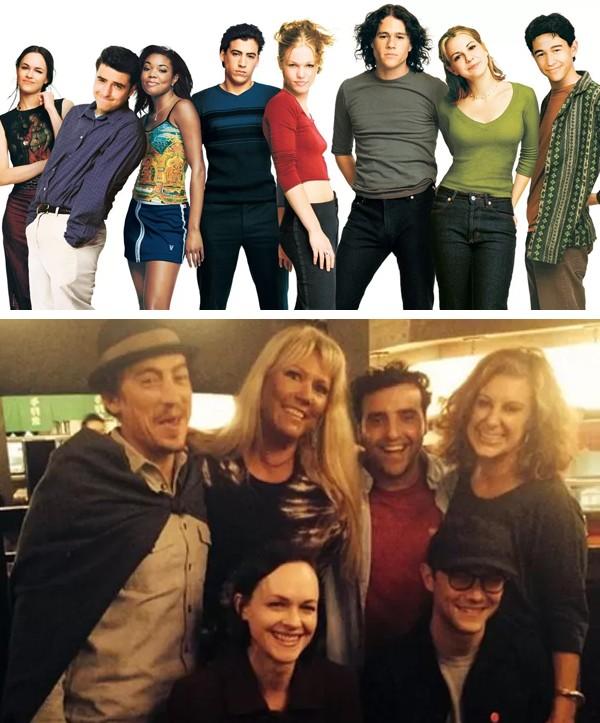 O elenco de '10 Coisas que Odeio em Você' em 1999 e hoje (Foto: Reprodução / Twitter)