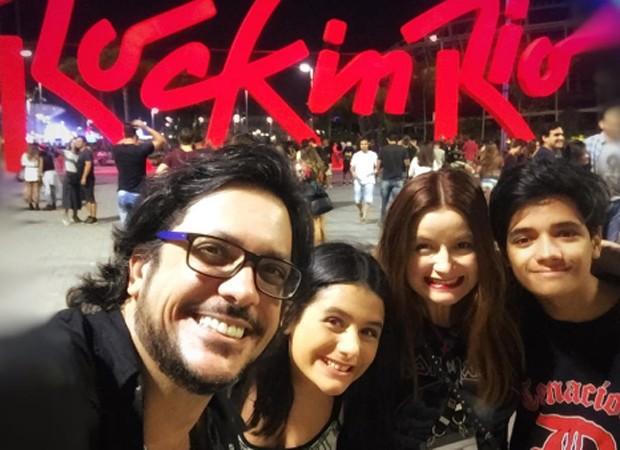 Lucio Mauro Filho, Luiza, Cíntia e Antonio Bento (Foto: Reprodução/Instagram)