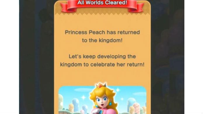 Super Mario Run: para jogar com Peach basta terminar a campanha (Foto: Reprodução / Thomas Schulze)