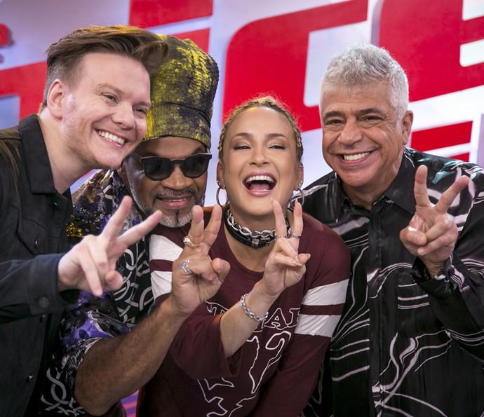 Michel Teló convida para a coletiva de impensa do The Voice Brasil (Foto: Isabella Pinheiro/Gshow)
