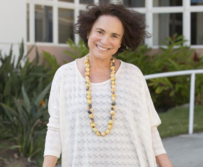 Regina Duarte diz que envelhecer é um processo difícil (Foto: Felipe Monteiro / Gshow)