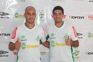 Felipe Alves e Michel são apresentados oficialmente no Luverdense (Foto:  Diogo Carvalho/Assessoria Luverdense)