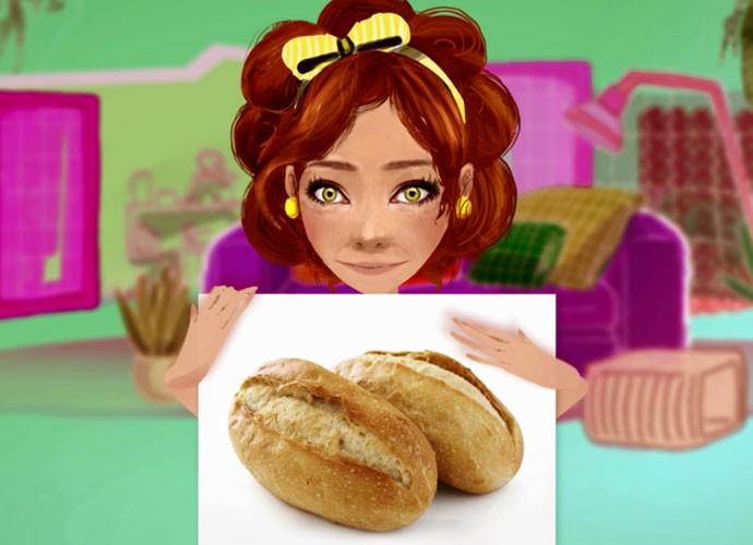 O que será que a Sebastiana vai fazer com esses pãezinhos? Assista ao vídeo e descubra!  (Foto: webséries/Gshow)