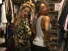 Divas! Juliana Alves e Giovanna Ewbank experimentam looks de Valeska
