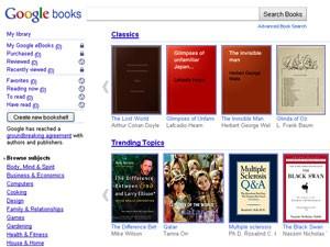 Google eBooks, livraria digital do Google (Foto: Reprodução)