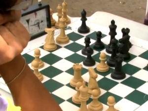 Competição de xadrez em Maceió  (Foto: Reprodução/ TV Gazeta)